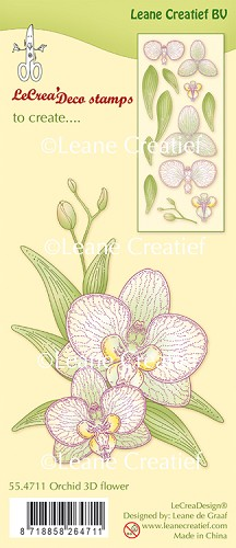 Leane Creatief - Clear stamp Orchidee 3D flower