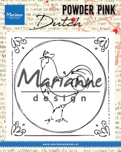 Marianne Design - Clearstamp Powder Pink - Dutch rooster