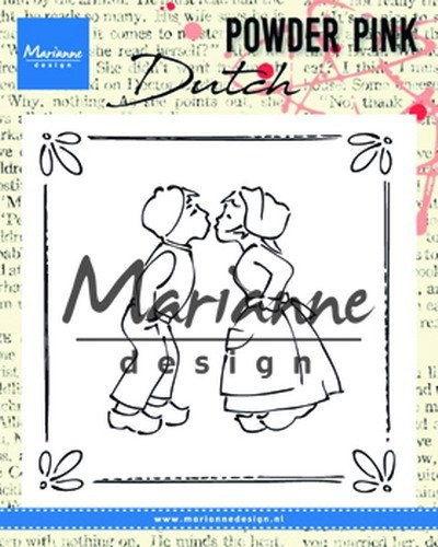 Marianne Design - Clearstamp Powder Pink - Kissing Couple