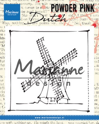 Marianne Design - Clearstamp Powder Pink - Windmill