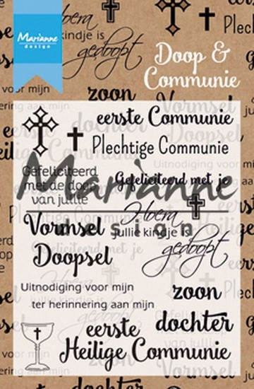 Marianne Design - Clearstamp Teksten - Doop en Communie