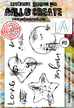 AALL & CREATE - Clearstamp A6 - set #12