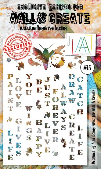 AALL & CREATE - Stencil set #15