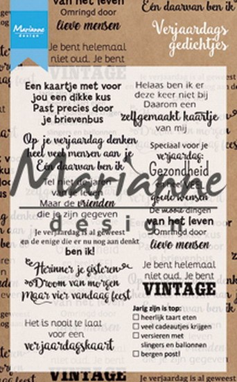 Marianne Design - Clearstamp Teksten - Gefeliciteerd