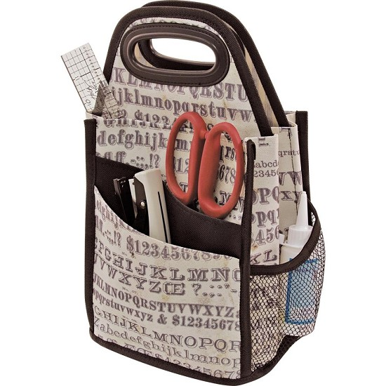 Tim Holtz - Storage Studios - Typography Spinning Craft Tote