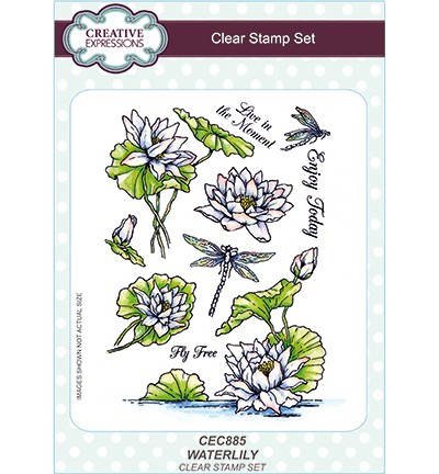Creative Expressions - Clearstamps A5 - Waterlily