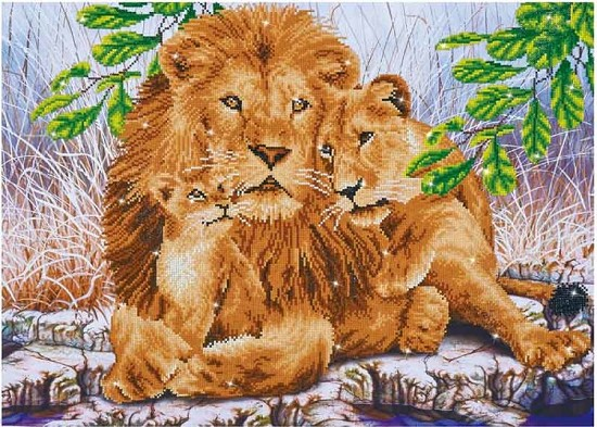 Diamond Dotz - 76,5x55cm - Lion Family - DD13.017