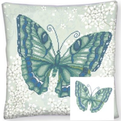 Diamond Dotz - 44 x 44cm - Pillow Papillon Vert - DD16.008