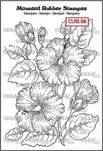 Crealies - Mounted Rubber Stampzz - no. 6 Hibiscus CLRS06