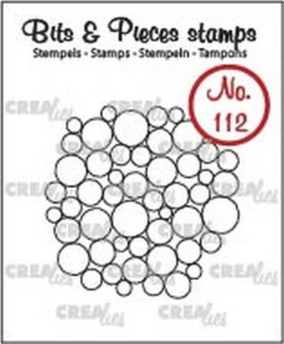 Clearstamp Crealies - Bits & Pieces - no. 112 Lot of Bubbles