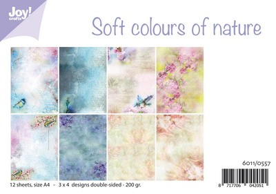Joy! Crafts - Paperpad A4 - Soft colours of nature