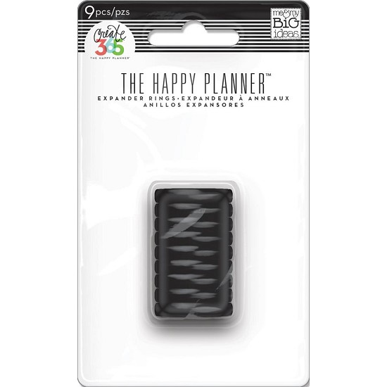 Me & My Big Ideas - Create 365 Happy Planner - Expander Rings Black .75""