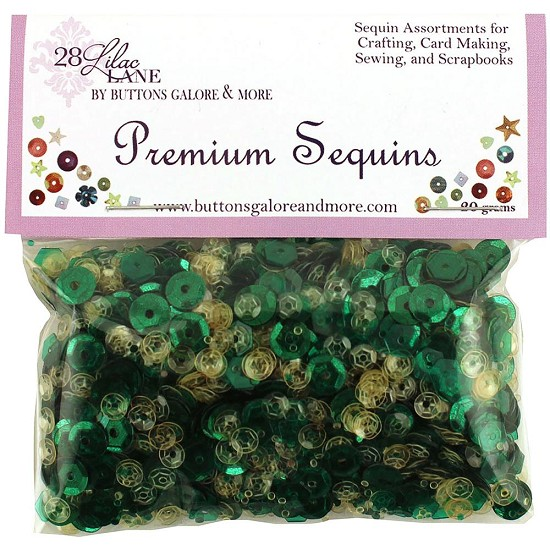 28 Lilac Lane - Premium Sequins 20g - Emerald