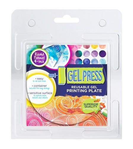Gel Press Printing Plate - 10,2cm circle
