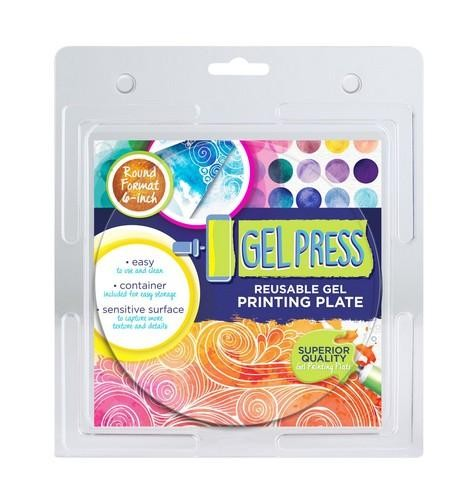 Gel Press Printing Plate - 15,2 cm - circle