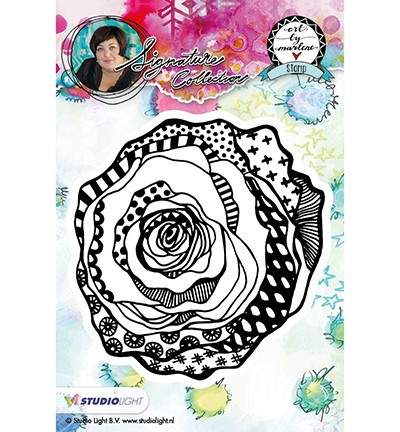 Studio Light - ART BY MARLENE - Cling Stamp Bloemen 08