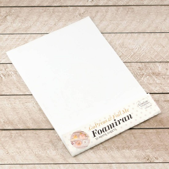 Couture Creations - Foamiran - Foam Sheets White (per vel)