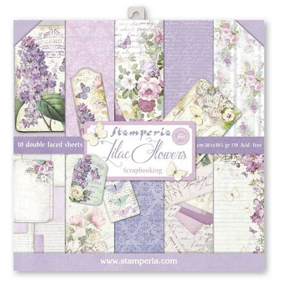 Paperpad Stamperia - 30,5 x 30,5 cm - Lilac Flowers