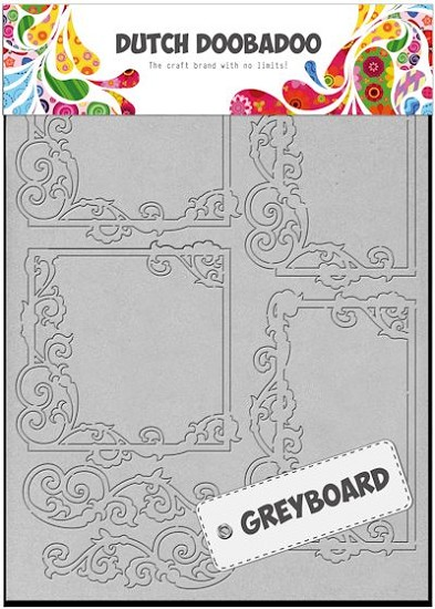 Dutch Doobadoo - Dutch Greyboard Art - Frames Squares A5