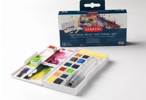Derwent - Inktense - Paint Pan Travel Set 12 kleuren - SET 1