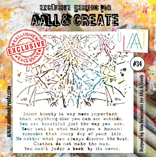 AALL & CREATE - Stencil set #34