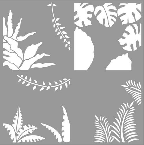 Pronty - Mask Stencil - Set Layer Tropical Leaves