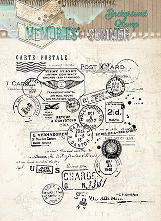 Studio Light - Memories of Summer - Clearstamp - STAMPMS293
