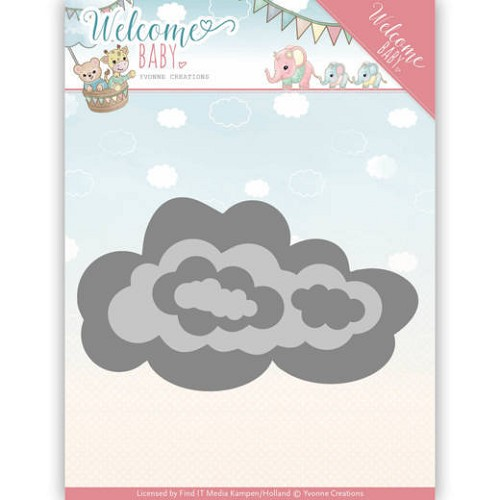 Stansmal Yvonne Creations - Welcome Baby - Nesting Clouds