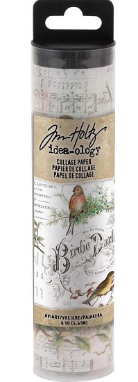 Tim Holtz - Idea-Ology Collage Paper 6yds - Aviary