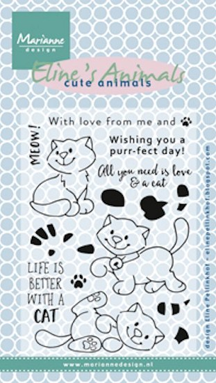 Marianne Design - Clearstamp - Eline`s Kittens