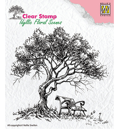 Nellie Snellen - Clear Stamps idyllic floral scene