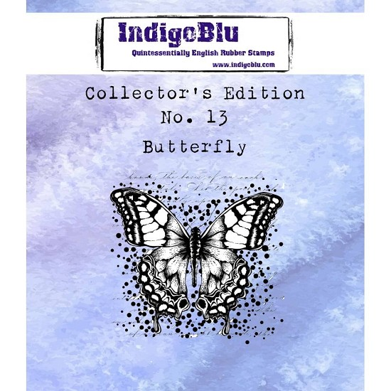 IndigoBlu - Rubber Stamp - Collectors Edition 13 - Butterfly
