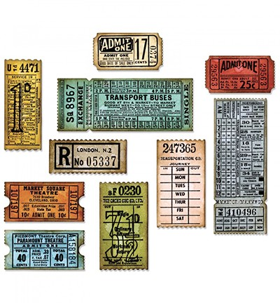 Sizzix - Thinlits Die set - Tim Holtz Ticket Booth (6PK)