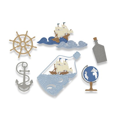 Sizzix - Thinlits Die set - Ship in a Bottle (7PK)