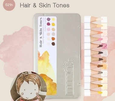 Nuvo - Watercolour pencils - Hair & Skin Tones