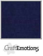 Linnenkarton CraftEmotions (10 vel) - 30,5 x 30,5 - Donkerblauw