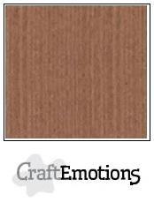 Linnenkarton CraftEmotions (10 vel) - 30,5 x 30,5 - Terra bruin