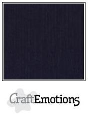 Linnenkarton CraftEmotions (10 vel) - 30,5 x 30,5 - Zwart