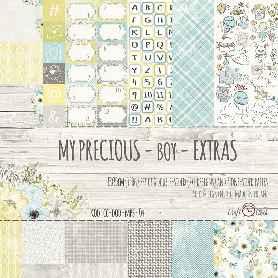 Craft-O-Clock - Paperpad My Precious Boys Extra - 15 x 30 cm