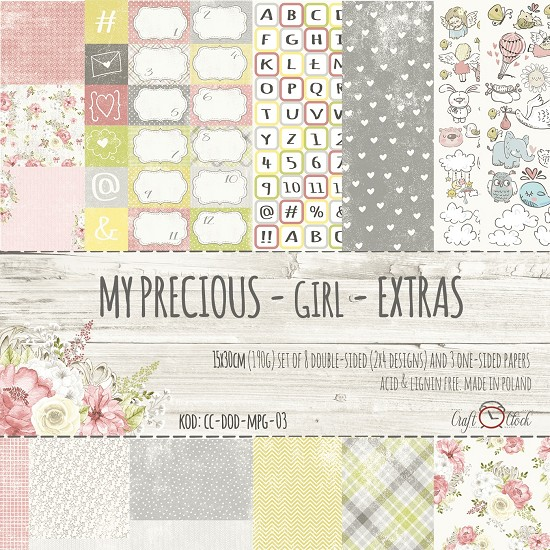 Craft-O-Clock - Paperpad My Precious Girls Extra - 15 x 30 cm