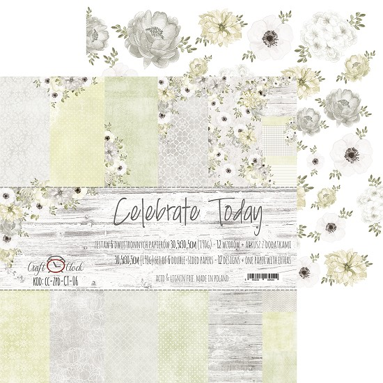 Craft-O-Clock - Paper Collection Set 30,5 x 30,5 cm - Celebrate Today