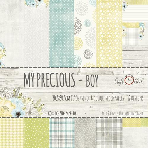 Craft-O-Clock - Paper Collection Set 30,5 x 30,5 cm - My Precious Boy