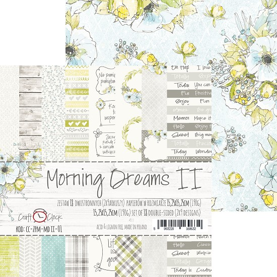 Craft-O-Clock - Paper Collection Set 15,2 x 15,2 cm - Morning Dreams