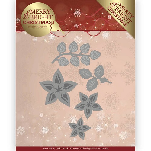 Stansmal  Precious Marieke - Merry and Bright Christmas - Christmas Florals