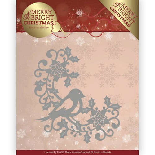 Stansmal  Precious Marieke - Merry and Bright Christmas - Bird Corner