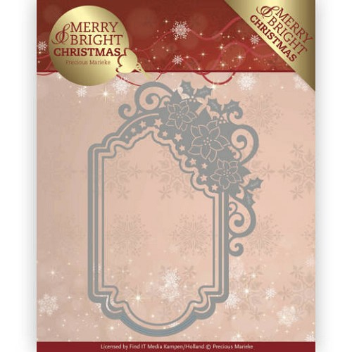 Stansmal  Precious Marieke - Merry and Bright Christmas - Poinsettia Ornament