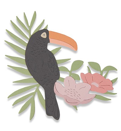 Sizzix - Thinlits Die Set - Tropical Bird