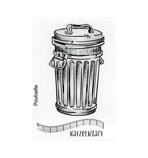 Rubberstamp - Katzelkraft - Trash Can