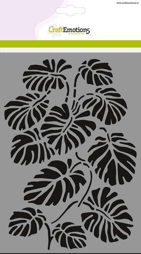 CraftEmotions - Mask Stencil A5 - Tak Monstera bladeren