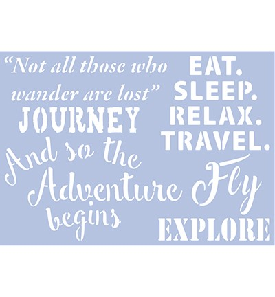 Pronty - Mask Stencil A4 - Travel Quotes 2